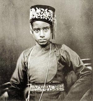 Rabindranath Tagore - Rabindranath at an early age