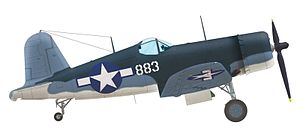 "VMA-214 - Vought F4U-1A Corsair, BuNo 17883, of Gregory ""Pappy"" Boyington, the commander of VMF-214, Vella Lavella end of 1943"