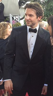 A photograph of actor Bradley Cooper at the 70th Golden Globe Awards in 2013