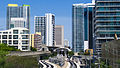 Brickell metro station from Metromover 2012-04.jpg