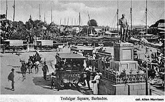 Barbados Tramway Company - Bridgetown Trams at Trafalgar Square