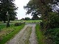 Bridleway reaches road near East Lavant - geograph.org.uk - 1073929.jpg
