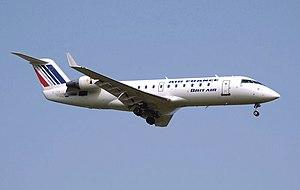 Brit Air - A Brit Air Bombardier CRJ100 upon landing (2007).