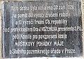 Brno, hrad Veveří, pamětní deska u vstupu (2).JPG