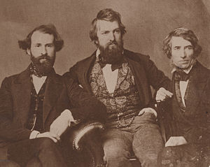 Asher Brown Durand - L-R: Henry Kirke Brown, Henry Peters Gray and Durand, 1850.