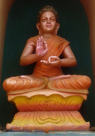 Gautama Buddha in Hinduism - Buddha as an avatar at Dwaraka Tirumala temple, Andhra Pradesh