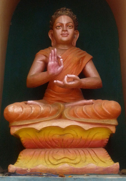 Buddha as an avatar at Dwaraka Tirumala temple, Andhra Pradesh. Buddha statue at Dwaraka Tirumala Temple 02.jpg
