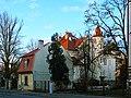 Budynek z pocz. XX w. wg projektu Dawida Landego, obecnie siedziba Uniwersytetu Łódzkiego - Katedra Dziennikarstwa i Komunikacji Społecznej - panoramio.jpg