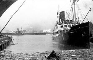 """ST Voorbode - Image: Bundesarchiv Bild 101I 117 0353 29, Norwegen, Bergen, Motorschiff """"Rogaland"""""""