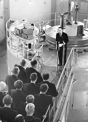 Einweihung des Rossendorfer Forschungsreaktors im Jahr 1957