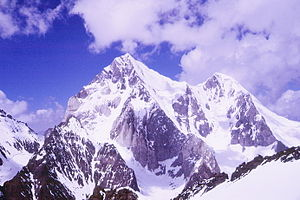 Buni Zom - Buni Zom Main and North from the west face of Gordoghan Zom, 2002