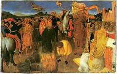 Burning-of-a-heretic-- Sassetta--Melburn museum