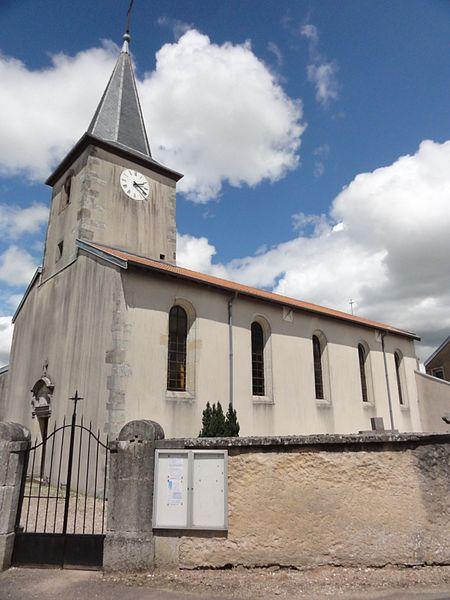Burthecourt-aux-Chênes (M-et-M) église, extérieur
