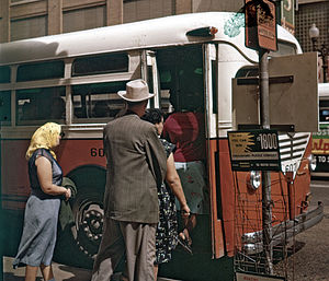 HouTran - A Houston Transit Company bus in 1956