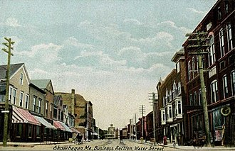 Skowhegan, Maine - Water Street in 1906