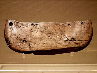 History of China - Butterfly-shaped ivory vessel with the pattern of two birds facing the sun, Hemudu culture (5500–3300 BC)