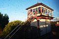 Butterley railway station, Derbyshire, England -signal box-19Jan2014.jpg