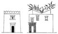 Byggnadskonsten, Fornegyptiska boningshus, Nordisk familjebok.png