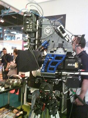 Español: Cámara de TV en 3D con las cámara ind...