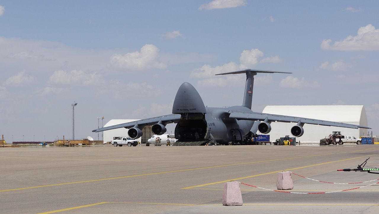 C-5 Galaxy at Mazar-e-Sharif Airport in northern Afghanistan.jpg