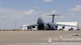 Mazar-i-Sharif - An American C-5 Galaxy at Mazar-i-Sharif Airport.