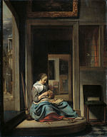 C. Bisschop Girl peeling an apple 1667.jpg