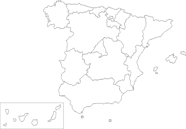 Map Of Spain Blank.File Ccaa Of Spain Blank Map Png Wikimedia Commons
