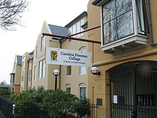 Caroline Freeman College, Otago A residential college owned and opArated by the University of Otago in Dunedin