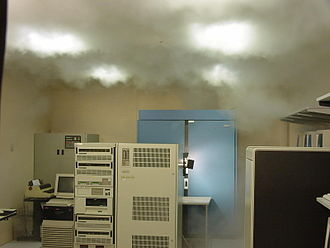 Automatic fire suppression - Automatic system in a computer room