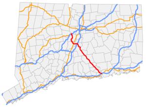 Connecticut Route 9 - Image: CT 9 map