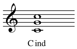 Dyad (music) - Image: C indeterminate chord