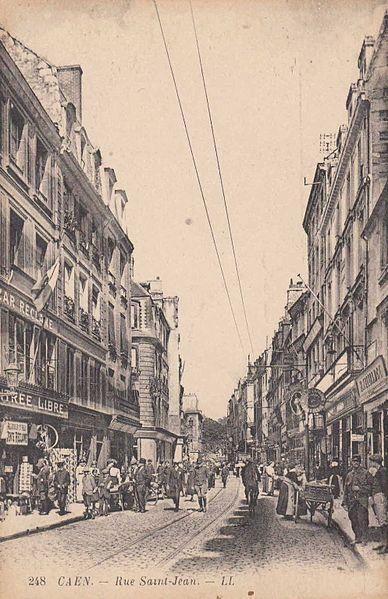 File caen ruesaintjean pietons wikimedia commons - Rue saint laurent caen ...