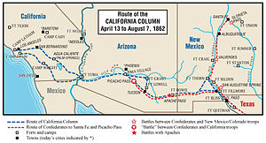 California Column - Route of the Column