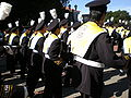 Cal Band en route to Memorial Stadium for 2008 Big Game 02.JPG
