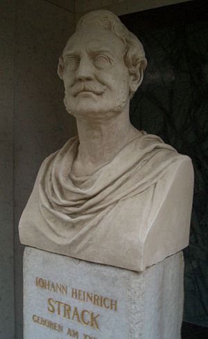 Heinrich Strack - Bust of Strack by Calandrelli on his grave in the Dorotheenstädtischen Friedhof in Berlin.