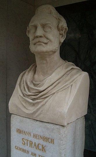 Heinrich Strack - Bust of Strack by Calandrelli on his grave in the Dorotheenstädtischen Friedhof in Berlin.