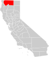 California county map (Siskiyou County highlighted).svg