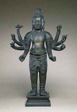 Jayavarman VII - Image: Cambodian Eight armed Avalokiteshvara Walters 542726