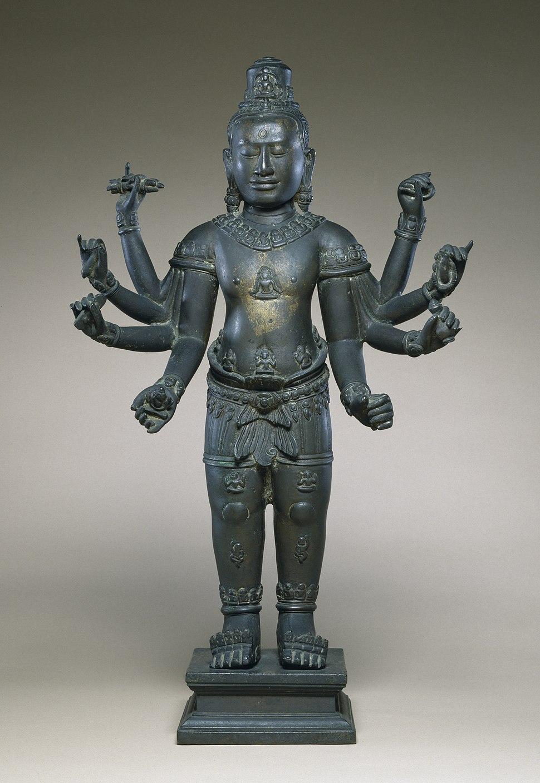 Cambodian - Eight-armed Avalokiteshvara - Walters 542726