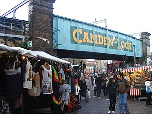 Camden Market - Entrance to markets from Chalk Farm Road