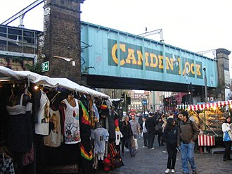 Camden Lock - The railway bridge over Chalk Farm Road announces that this is Camden Lock.