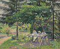 Camille Pissarro - Enfants attablés dans le jardin à Eragny, oil on canvas, 1892.jpg