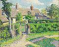 Camille Pissarro - Peasants' houses, Eragny - Google Art Project.jpg