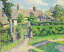 Camille Pissarro - Peasants' houses, Eragny - Google Art Project.jpg