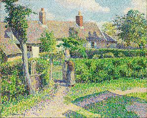 Peasants' houses, Eragny