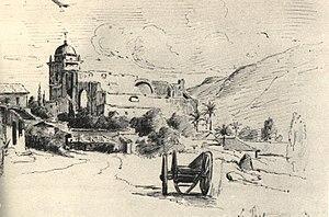 National Art Gallery (Caracas) - La Pastora, Caracas. Drawing by Pissarro
