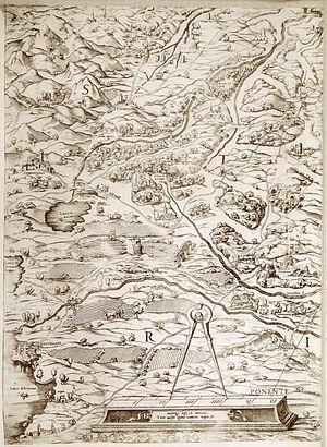 Thomas Ashby - Campagnano mappa 1547