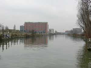 Aubervilliers - The Canal Saint-Denis at Aubervilliers