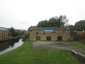 Listed buildings in Clayton-le-Moors - Image: Canal stable block, Clayton le Moors