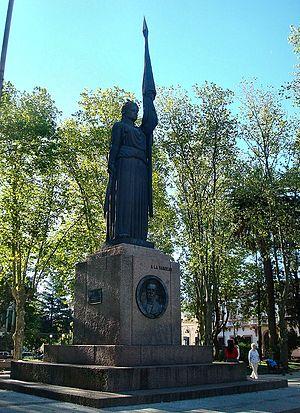 """Canelones, Uruguay - Monument """"A La Bandera"""" in the central square"""